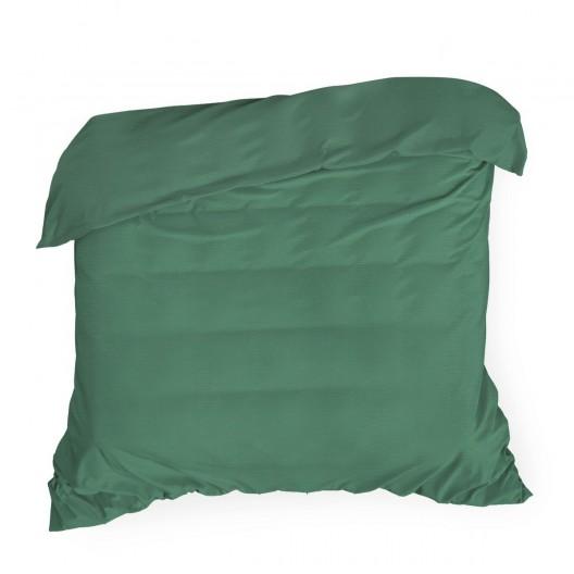 Bavlnené sýto zelené posteľné obliečky na perinu so saténovým leskom