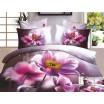 Sivá posteľná súprava obliečok s ružovými kvetmi