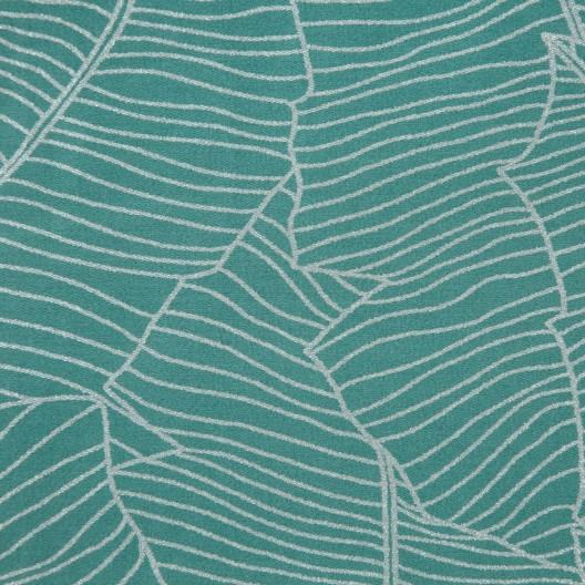 Krásne tyrkysové posteľné obliečky bavlnený satén so strieborným vzorom