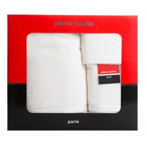 Vysoko kvalitná smotanovo biela sada uterákov PIERRE CARDIN