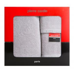 Kvalitná darčeková sada sivých froté uterákov PIERRE CARDIN