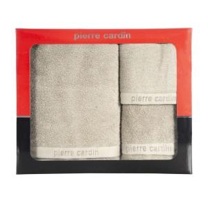 Originálna béžová sada bavlnených froté uterákov PIERRE CARDIN