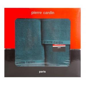Kvalitná tmavo tyrkysová sada bavlnených froté uterákov PIERRE CARDIN