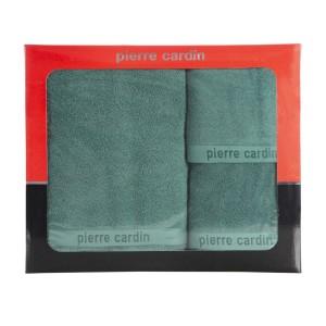 Luxusná zelená sada bavlnených froté uterákov PIERRE CARDIN