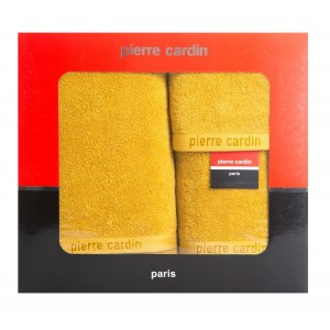 Originálna darčeková sada žltých froté uterákov PIERRE CARDIN