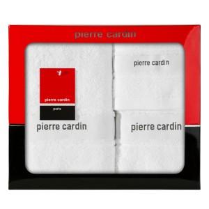 Kvalitná darčeková sada troch bielych uterákov PIERRE CARDIN