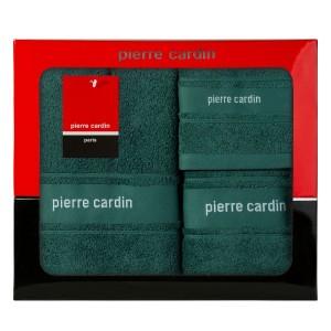 Luxusná darčeková sada zelených froté uterákov PIERRE CARDIN