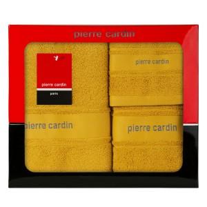 Elegantná sada bavlnených froté uterákov žltej farby PIERRE CARDIN