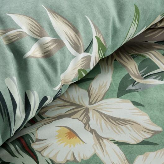 Krásne mentolové bavlnené posteľné obliečky bavlnený satén 140 x 200 cm