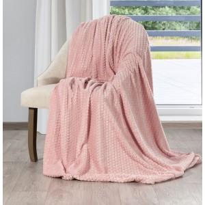 Krásna baby ružová deka s reliéfnym vzorom