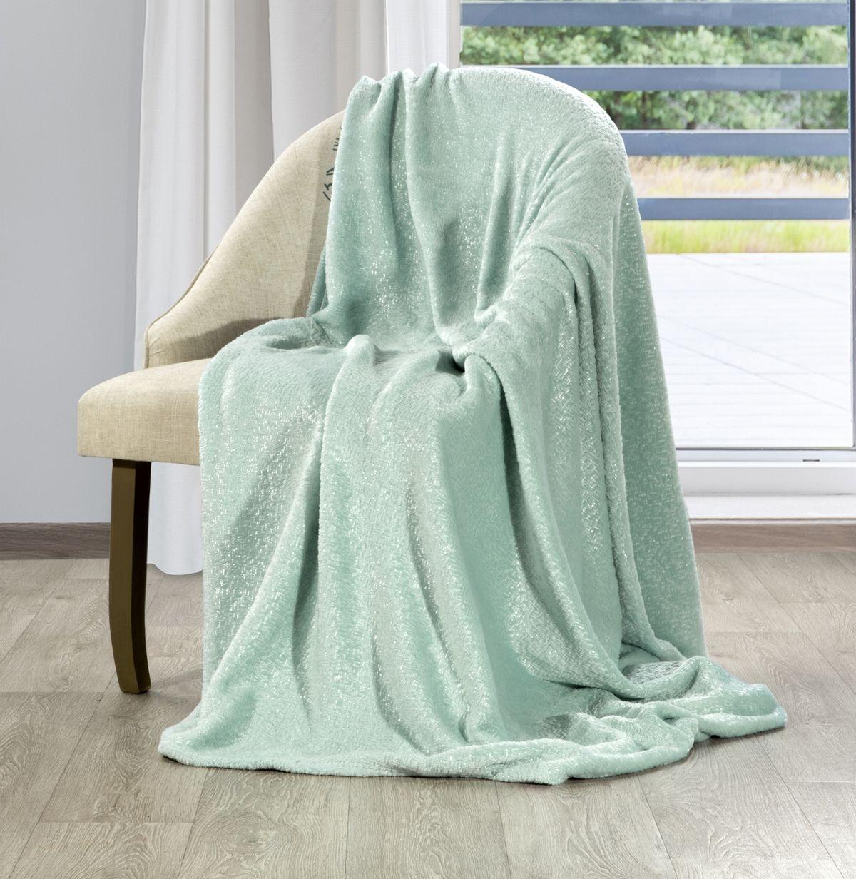 Krásna mentolová trblietavá deka 130 x 160 cm Šírka: 130 cm   Dĺžka: 160 cm