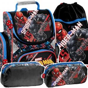 SPIDERMAN - moderná 3-časťová školská taška
