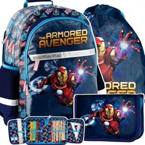 Dizajnový školský batoh AVANGERES v trojsade