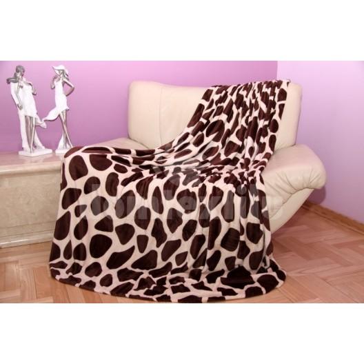 Krémová deka s leopardím vzorom