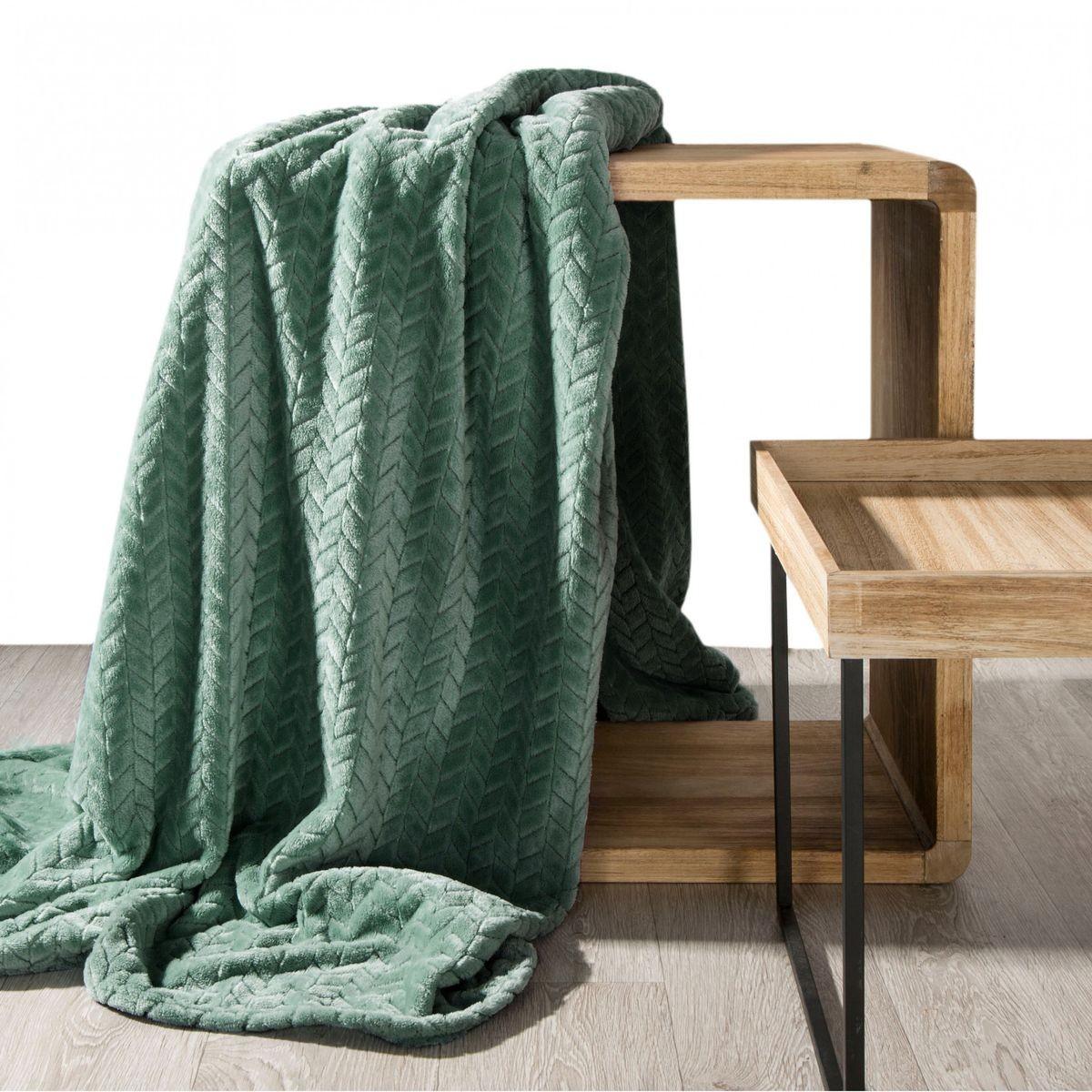 DomTextilu Príjemne mäkká deka mätovo zelenej farby 70 x 160 cm
