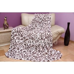 Krémová luxusná deka z mikrovlákna