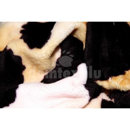 Luxusná moderná deka z mikrovlákna s hnedým vzorom