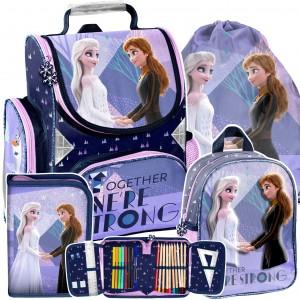Dievčenská štvorčasťová školská taška Frozen