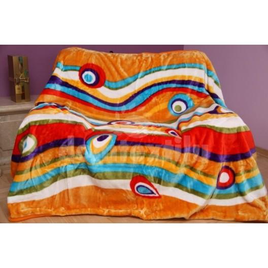 Luxusná mäkká deka z akrylu s farebnými pruhmi