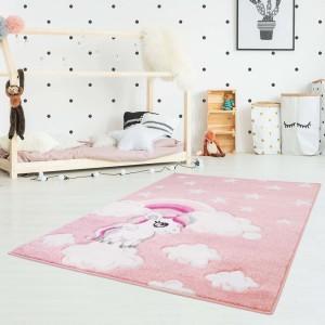 Originálny detský ružový koberec pre dievčatko my little pony 80 x 150 cm SKALDOM
