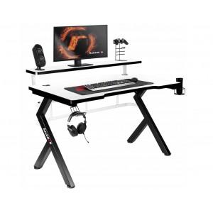 Mimoriadne kvalitne prepracovaný herný stôl v bielej farbe