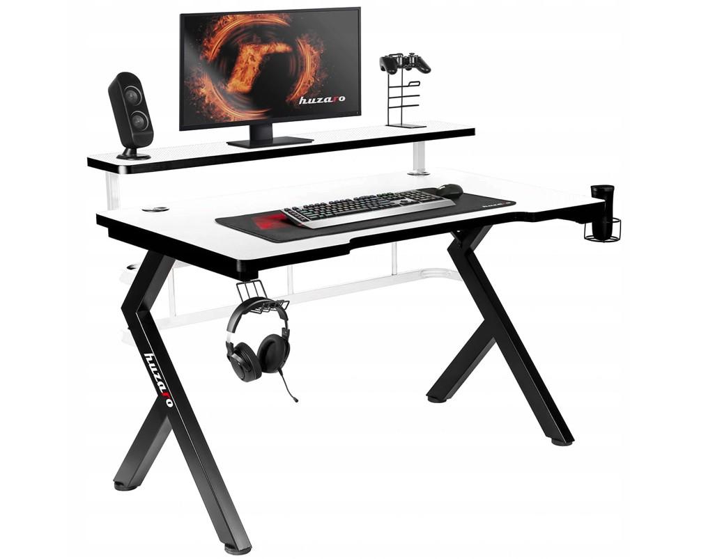 DomTextilu Mimoriadne kvalitne prepracovaný herný stôl v bielej farbe Hz-Hero 5.0_GMTO Biela