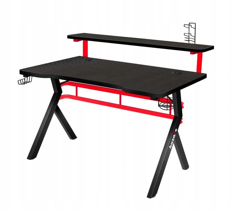Ultramoderný čierno červený stôl pre náročných hráčov