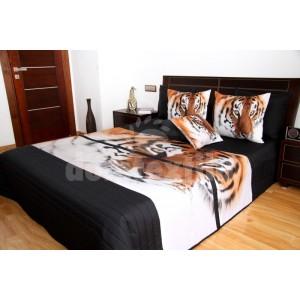 Prehozy na postele čiernej farby s tigrom
