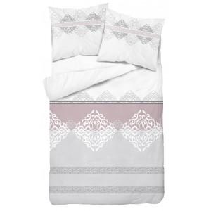 Jemné romantiké ružovo béžové  posteĺné obliečky  140 x 200 cm SKLADOM