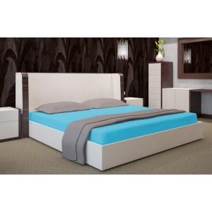 Tyrkysové prestieradlo na posteľ s gumičkou 160x200 cm SKLADOM