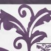 Fialové prehozy s abstraktným vzorom