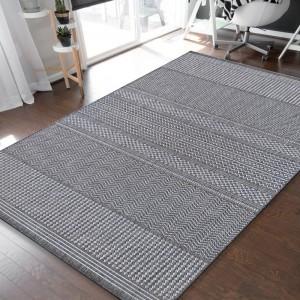Univerzálny koberec s jemným vzorom v sivej farbe