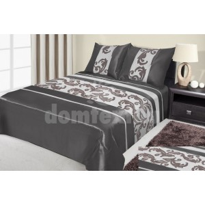 Sivý prehoz na posteľ so vzorom