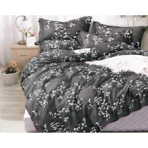 Sivé posteľné obliečky s motívom kvetov stromu 160x200 cm SKLADOM