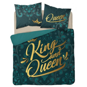 Luxusné bavlnené posteľné obliečky smaragdovo zelenej farby