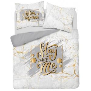 Luxusné bavlnené posteľné obliečky Stay with me