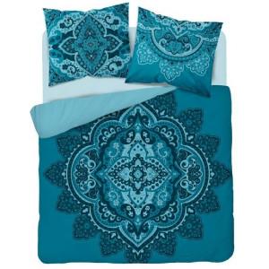 Tyrkysové bavlnené posteľné obliečky s mandalou
