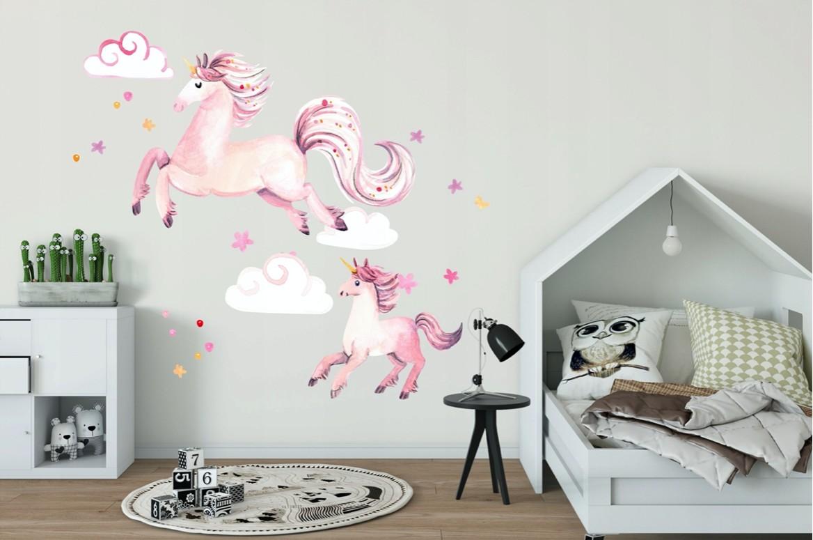 Rozprávková nálepka na stenu čarovné jednorožce