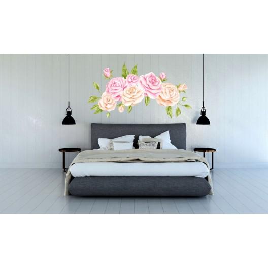 Originálna nálepka na stenu s motívom ruží