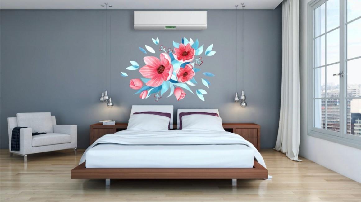 Dekoračná nálepka na stenu kvety