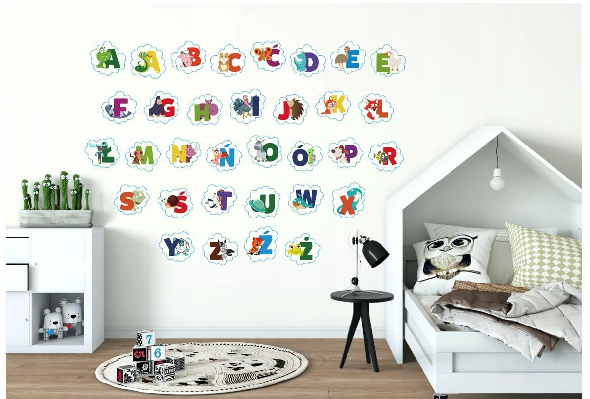 Moderná nálepka na stenu abeceda
