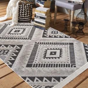 Originálny sivý koberec v škandinávskom štýle