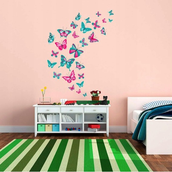 Dekoračná nálepka na stenu motýle
