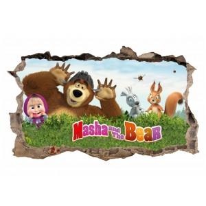 Rozprávkova nálepka na stenu Máša a medveď