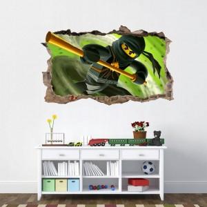 Perfektná detská dekoračná nálepka NINJA GO