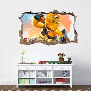 Originálny plagát nálepka do detskej izby s postavičkou ninja go