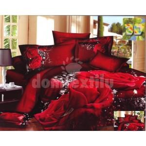 Červené obliečky s motívom ruží