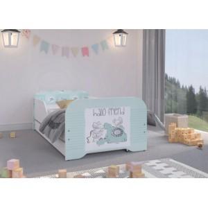 Roztomilá detská postel s myšičkami 160 x 80 cm