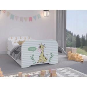 Okúzľujúca detská posteľ so žirafou  160 x 80 cm