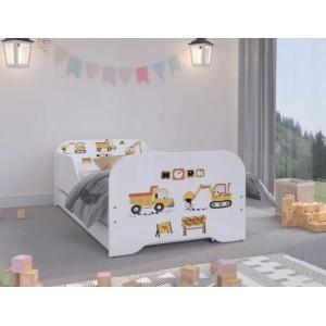 Detská posteľ pre malých staviteľov 160 x 80 cm
